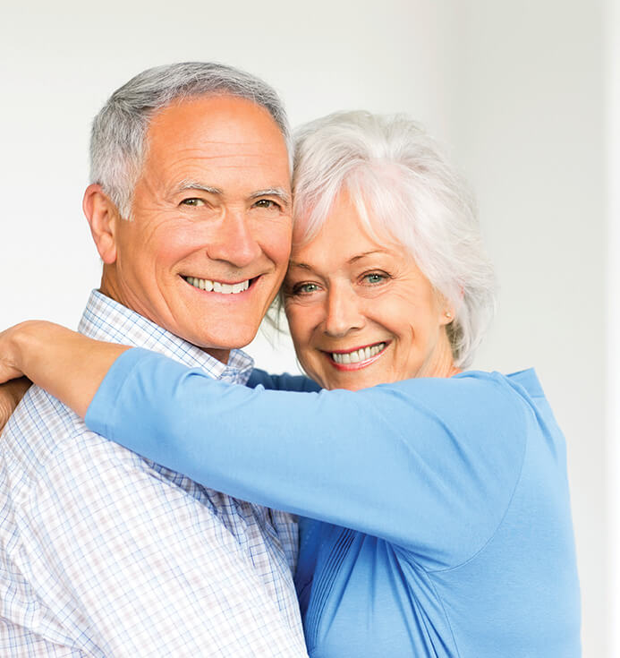 happy, smiling senior couple